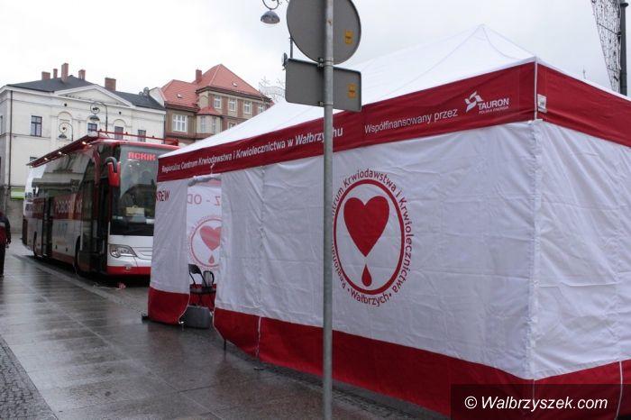 Wałbrzych: Mobilne Centrum poboru krwi