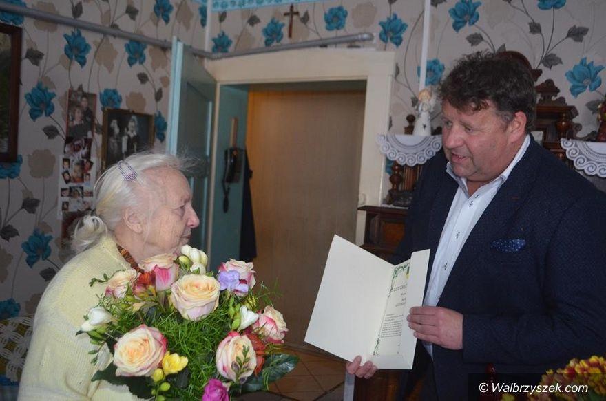 REGION, Walim: Jubileusz 90. urodzin Antoniny Kidy