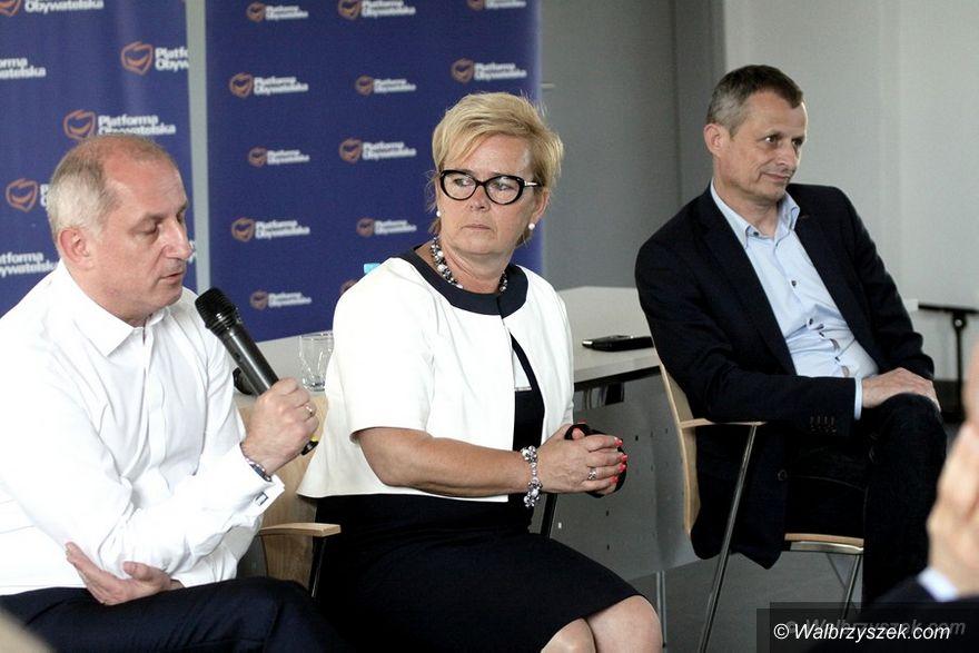 Wałbrzych: Spotkanie z parlamentarzystami PO