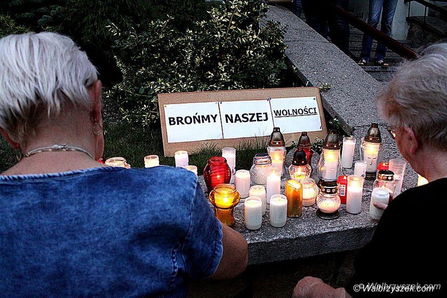 Wałbrzych: Kolejny protest w sprawie ustawy dotyczącej zmian w sądownictwie