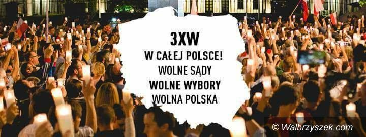 Wałbrzych: Manifestacja w obronie sądów