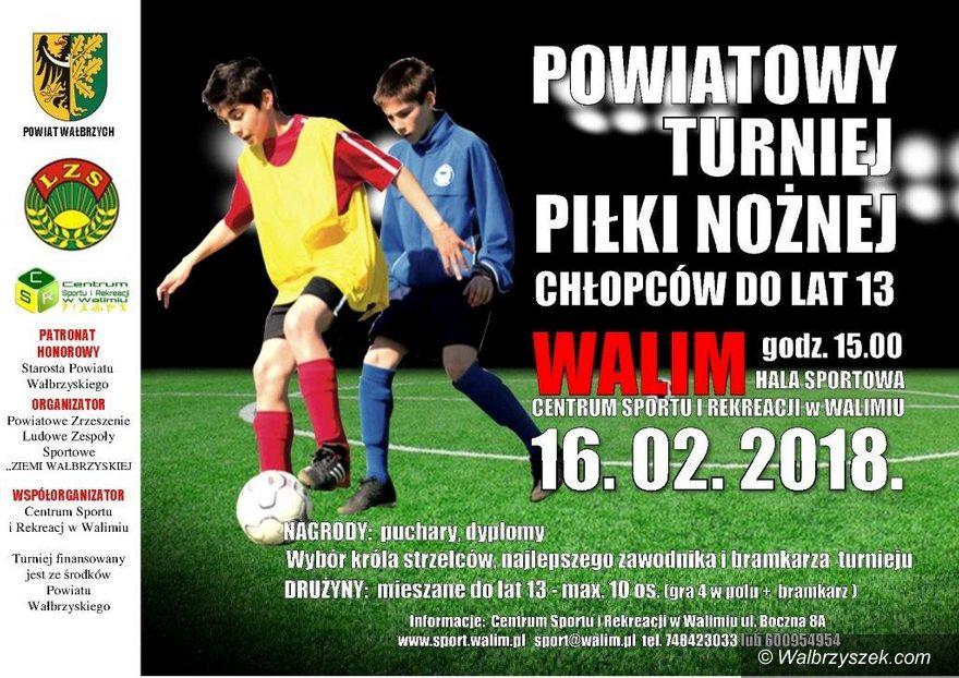 Walim: Powiatowy Turniej Piłki Nożnej w Walimiu