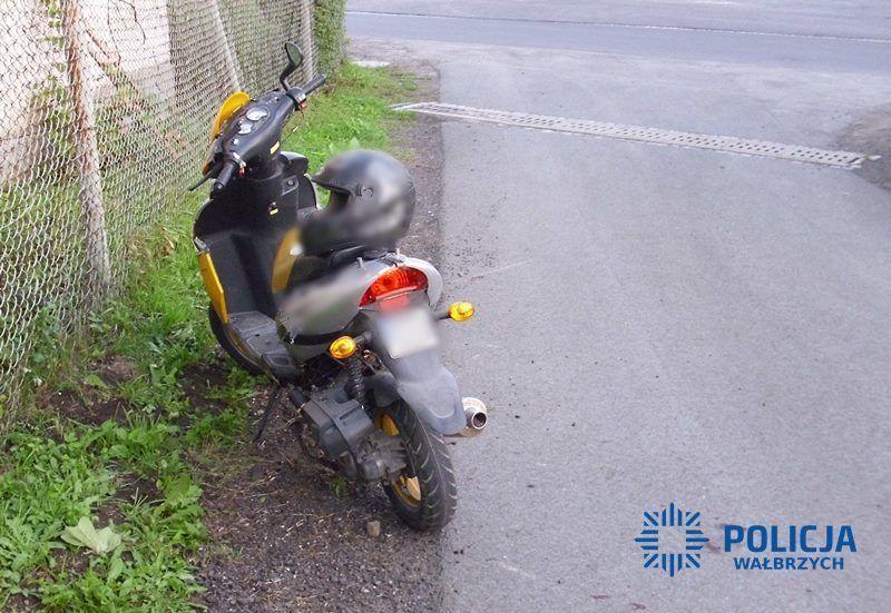 REGION, Dziećmorowice: Pijany motorowerzysta odniósł poważne obrażenia ciała