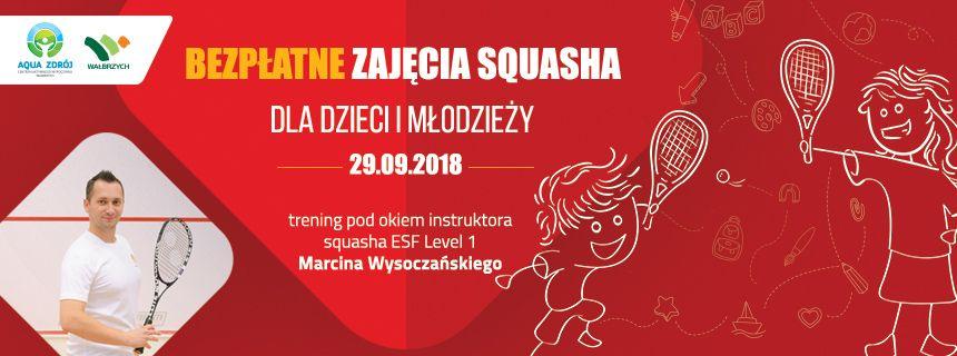 Wałbrzych: Bezpłatne zajęcia squasha dla dzieci i młodzieży