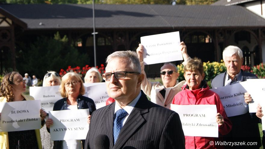 REGION, Szczawno-Zdrój: Marek Fedoruk wystartował ze swoją kampanią wyborczą