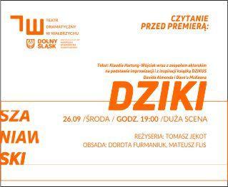 Wałbrzych: Jutro czytanie przed premierą w Szaniawskim