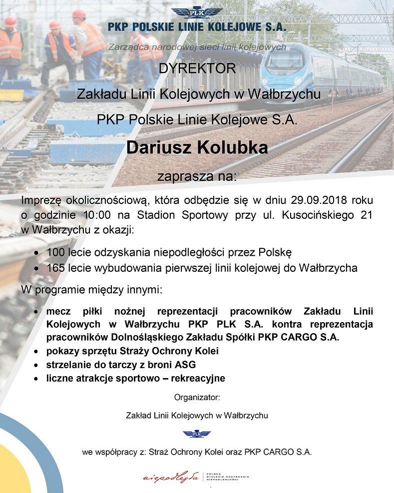 Wałbrzych: PKP PLK organizuje festyn dla wałbrzyszan