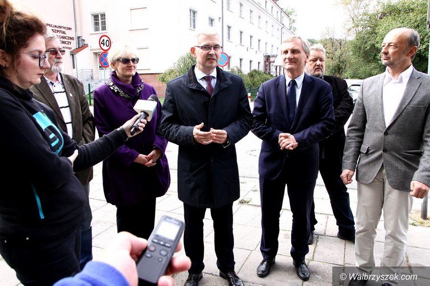 Wałbrzych: Wiceminister Zdrowia z wizytą w Wałbrzychu