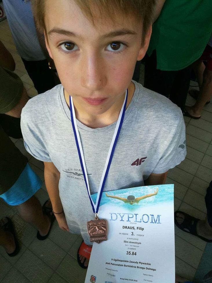 Wałbrzych: Pływacy Szafira startowali w Brzegu Dolnym