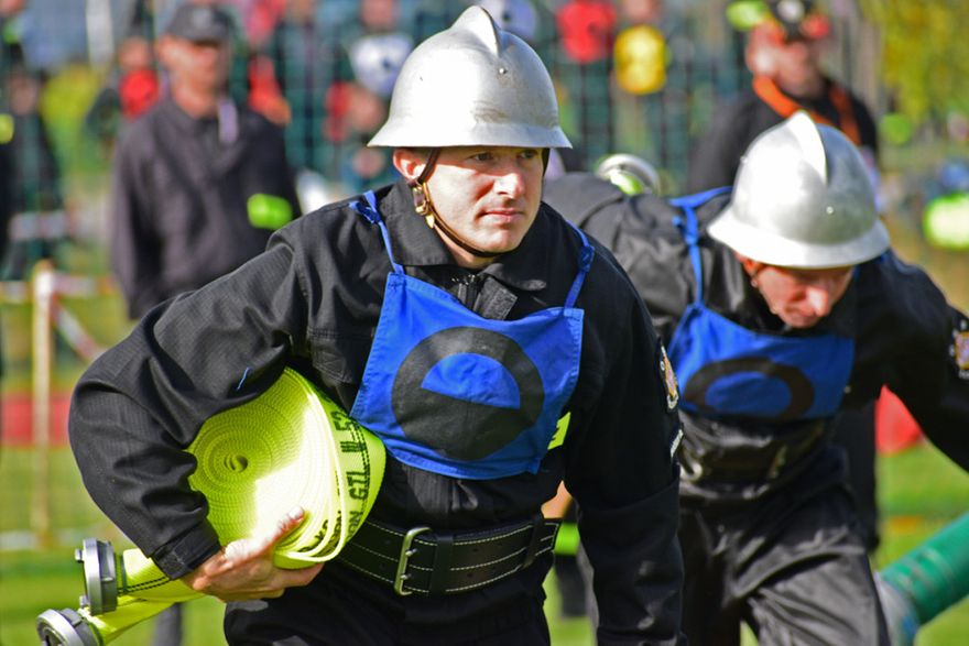REGION, Zagórze Śl.: Strażacy z Zagórza Śląskiego dzielnie walczyli