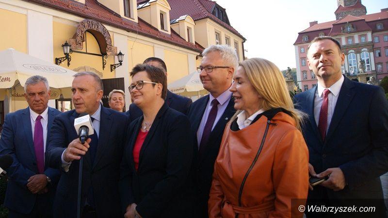 Wałbrzych: Grzegorz Schetyna i Katarzyna Lubnauer wspólnie przeciwko PiS–owi