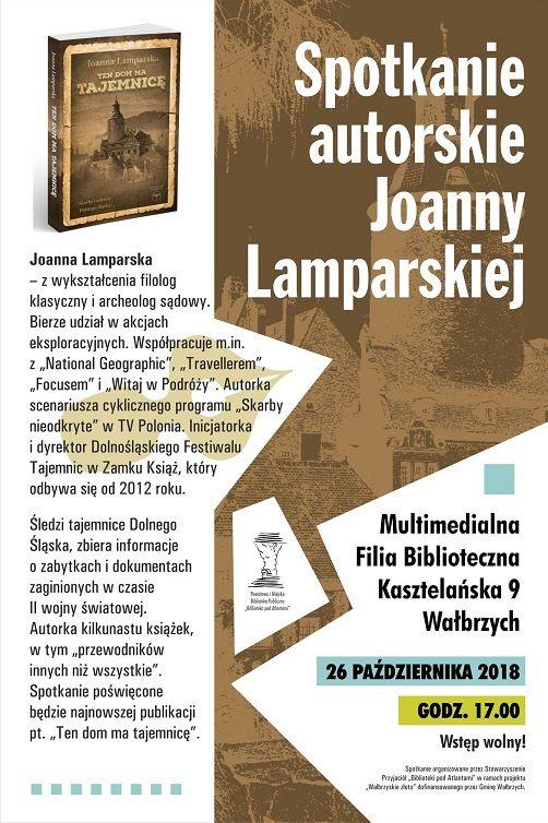Wałbrzych: Przyjdź na spotkanie z Joanną Lamparską