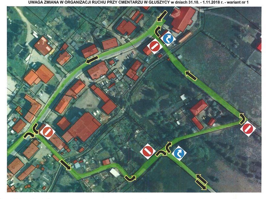 REGION, Głuszyca: Zmiana organizacji ruchu przy cmentarzu komunalnym w Głuszycy