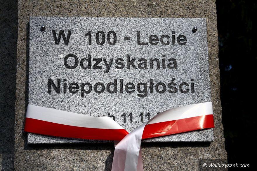 Wałbrzych: Odsłonięcie pamiątkowej tablicy na Podzamczu
