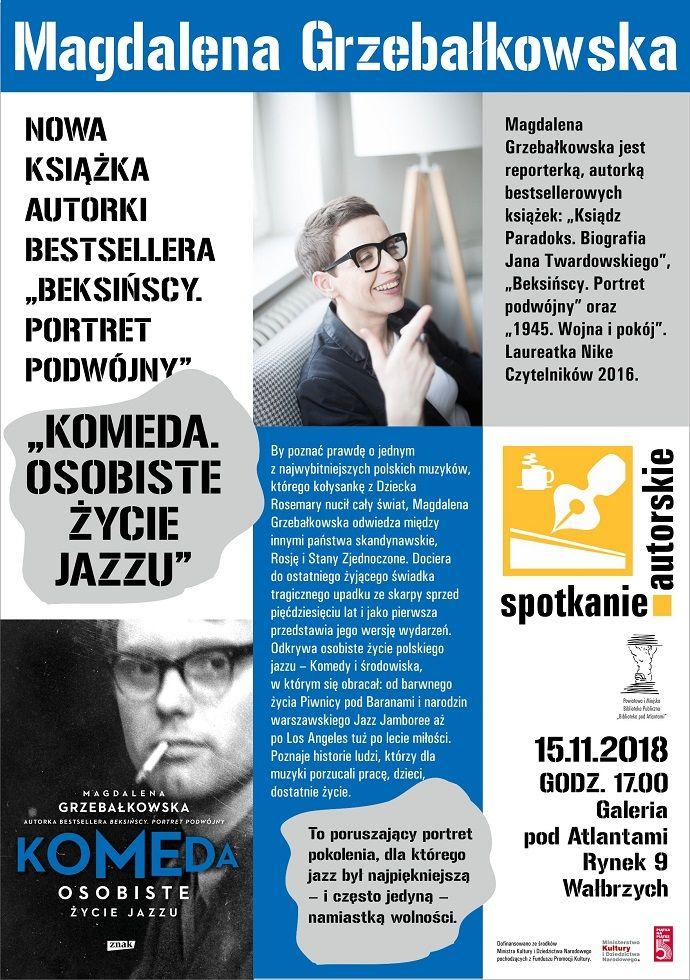 Wałbrzych: Będzie opowiadać o życiu i twórczości Krzysztofa Komedy