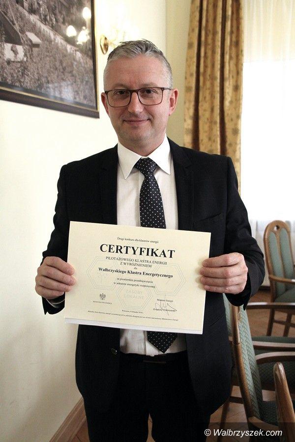 Wałbrzych: Wałbrzyski Klaster Energetyczny z certyfikatem