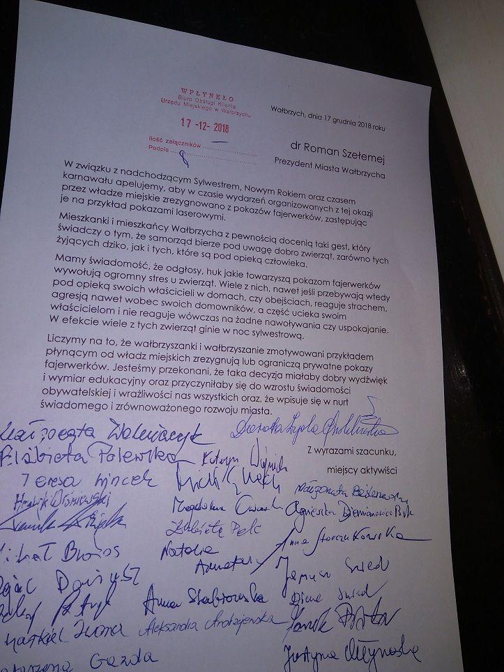 Wałbrzych: Sylwester bez pokazu fajerwerków – apel do prezydenta
