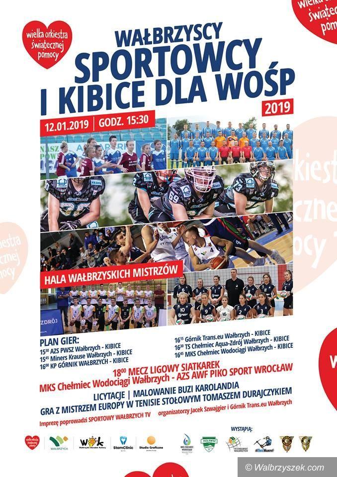 Wałbrzych: Wałbrzyscy sportowcy grają z WOŚP