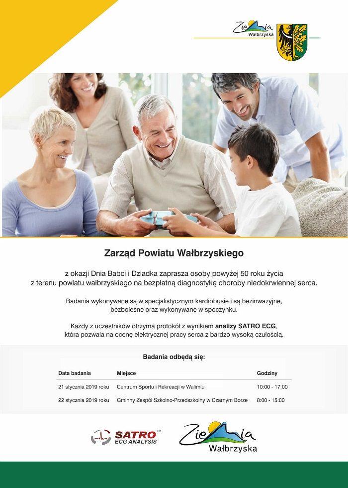 powiat wałbrzyski: Bezpłatna diagnostyka dla osób powyżej 50 roku życia