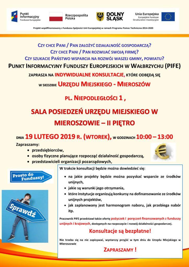 REGION, Mieroszów: Mobilny Punkt Informacyjny Funduszy Europejskich zaprasza na indywidualne konsultacje w Mieroszowie