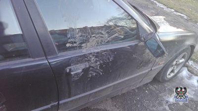 Wałbrzych: Pokłócił się z partnerką, a później zniszczył samochód jej ojca