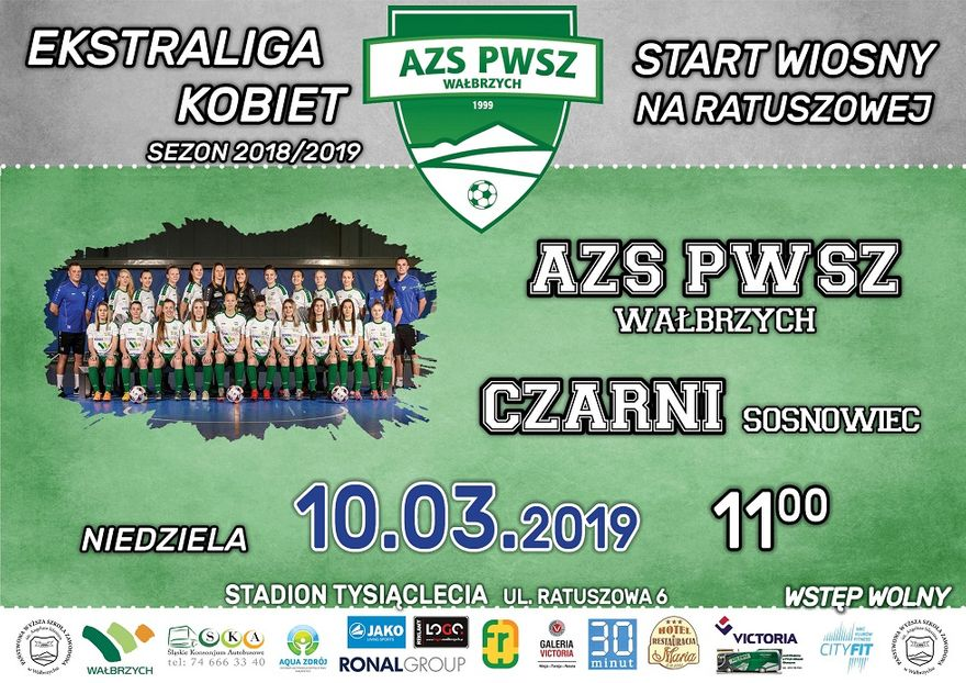 Wałbrzych: Ekstraliga piłkarska kobiet: To może być mecz o podium