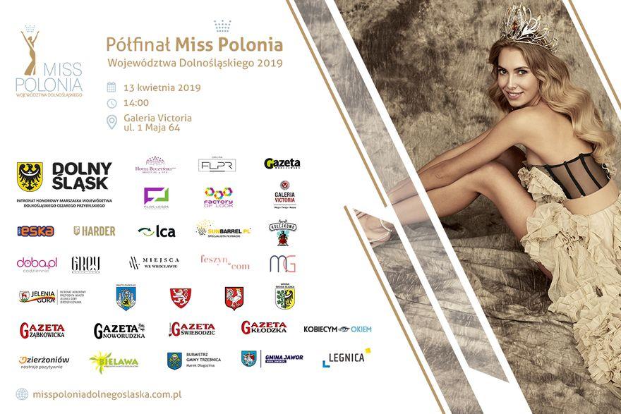 Wałbrzych/REGION: Półfinał Miss Polonia Województwa Dolnośląskiego 2019 już 13 kwietnia w Galerii Victoria