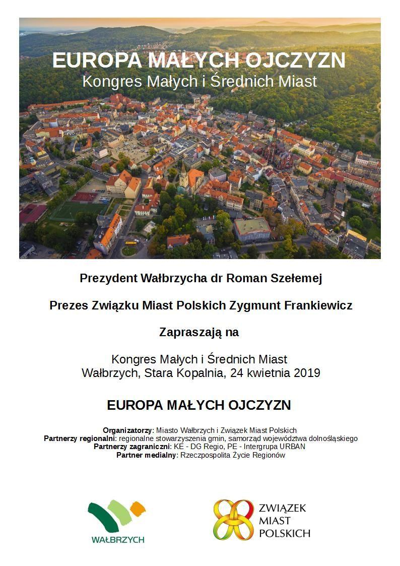 Wałbrzych: Kongres małych i średnich miast odbędzie się w Wałbrzychu