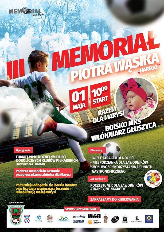 Głuszyca: Podczas Memoriału Piotra Wąsika będą zbierać pieniądze na szczytny cel