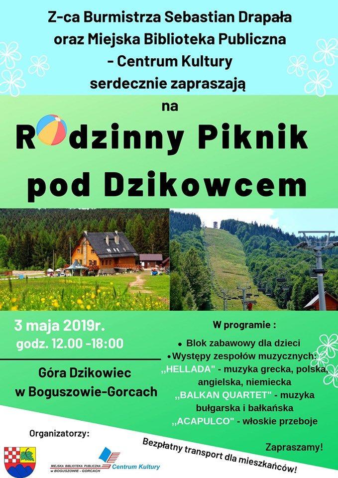 REGION, Boguszów-Gorce: Rodzinny Piknik pod Dzikowcem już dziś!