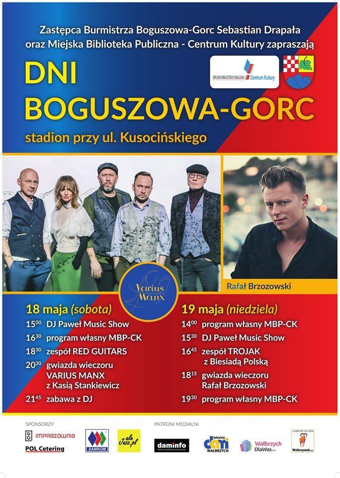 REGION, Boguszów-Gorce: Dni Boguszowa–Gorc – warto obejrzeć gwiazdy