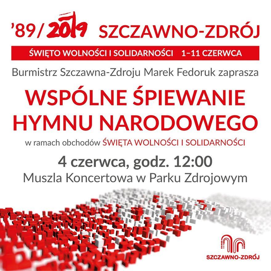 REGION, Szczawno-Zdrój: Wspólne śpiewanie hymnu i Kawa Wolności w Szczawnie–Zdroju