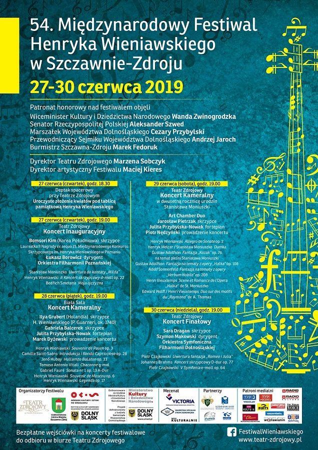 REGION, Szczawno-Zdrój: Festiwal Wieniawskiego już pojutrze