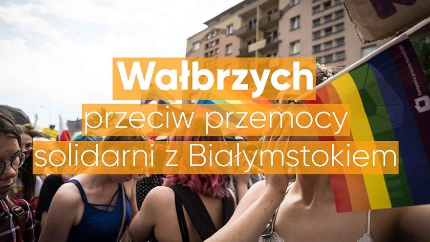 Wałbrzych: Solidarni z Białymstokiem