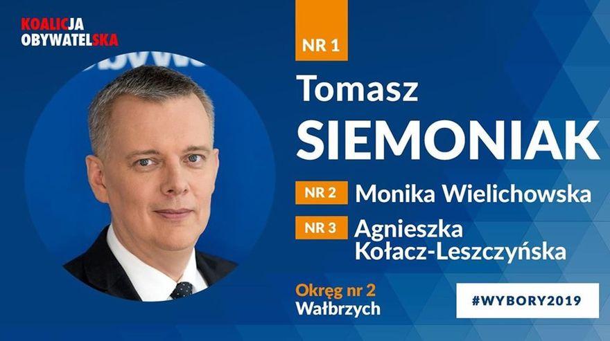 Wałbrzych/REGION: Siemoniak z jedynką