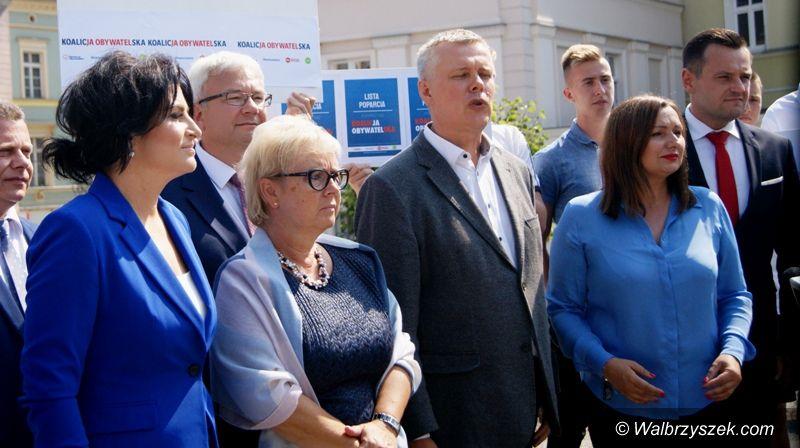 Wałbrzych: KO pokazała swoich kandydatów