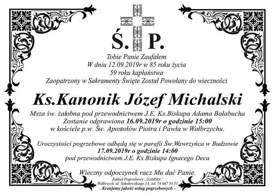 Wałbrzych/REGION: Zmarł kanonik