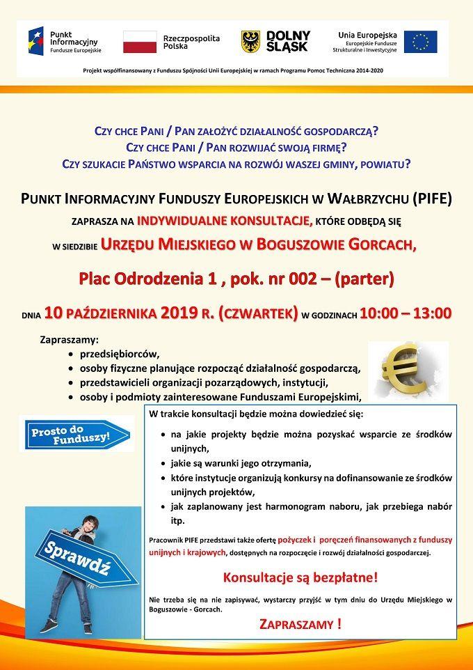 REGION, Boguszów-Gorce: Bezpłatne konsultacje