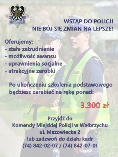 Wałbrzych: Policja zaprasza