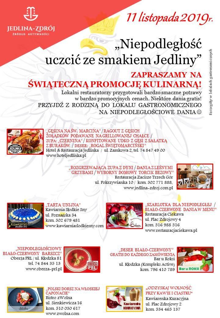 REGION, Jedlina-Zdrój: Smaki Niepodległości