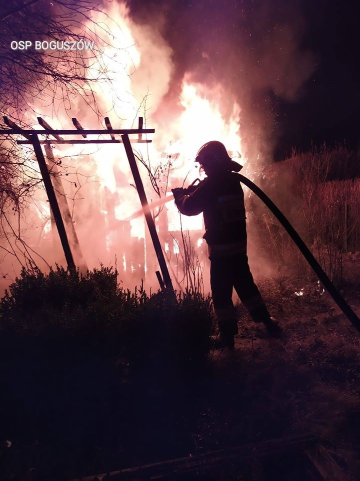 REGION, Boguszów-Gorce: Pożar altan