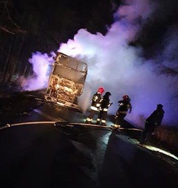 REGION, Jaczków: Spłonął tir