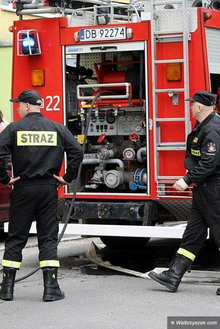 Wałbrzych: Paliło się na Starym Zdroju