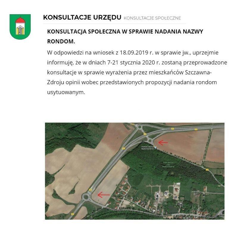 REGION, Szczawno-Zdrój/Stare Bogaczowice: Ronda z nazwami