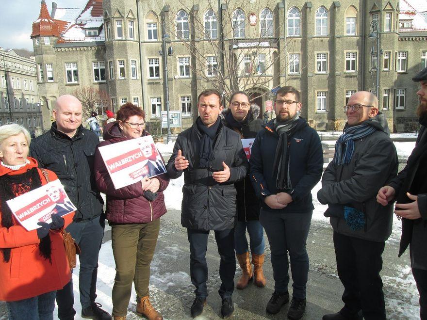 Wałbrzych: Poparcie dla Biedronia