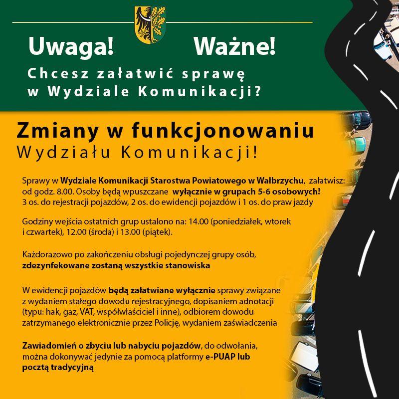 powiat wałbrzyski: Wydział komunikacji inaczej