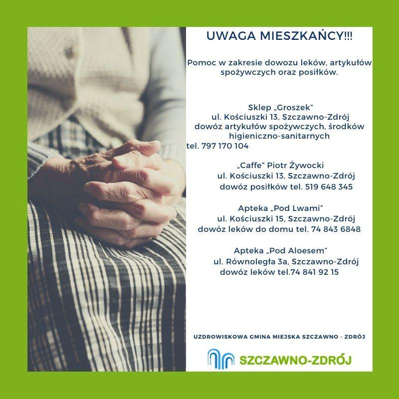 REGION, Szczawno-Zdrój: Dowiozą co potrzeba