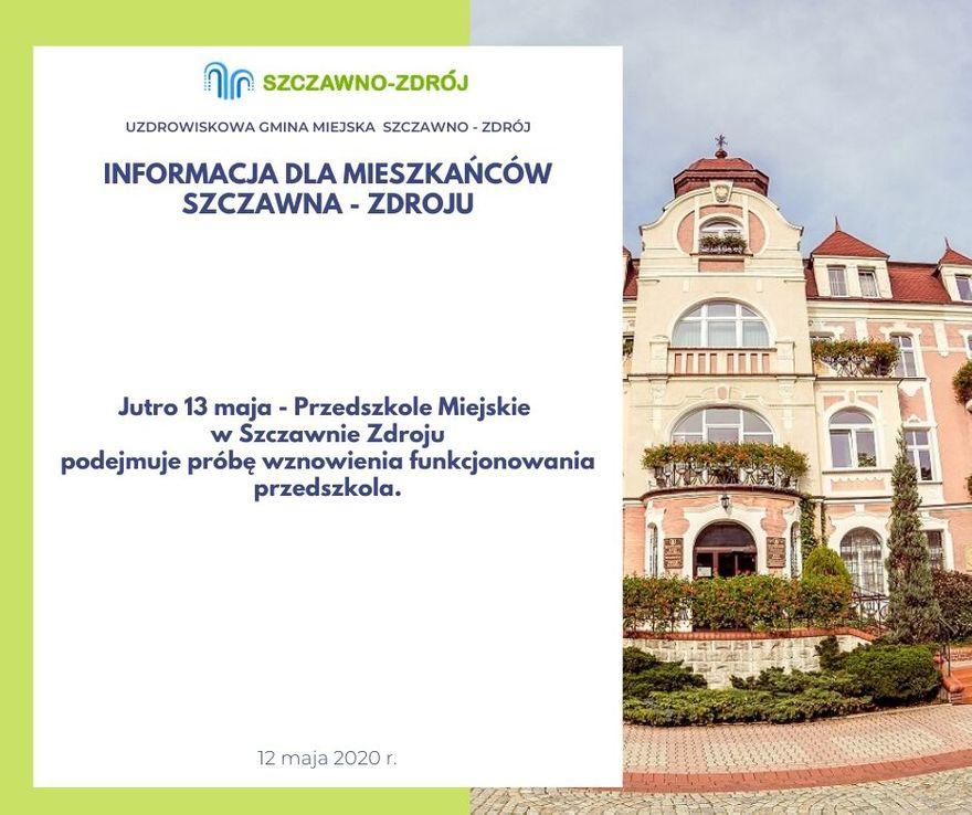 REGION, Szczawno-Zdrój: Otwierają przedszkole
