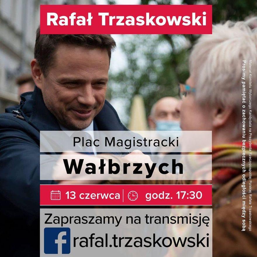 Wałbrzych: Trzaskowski odwiedzi Wałbrzych