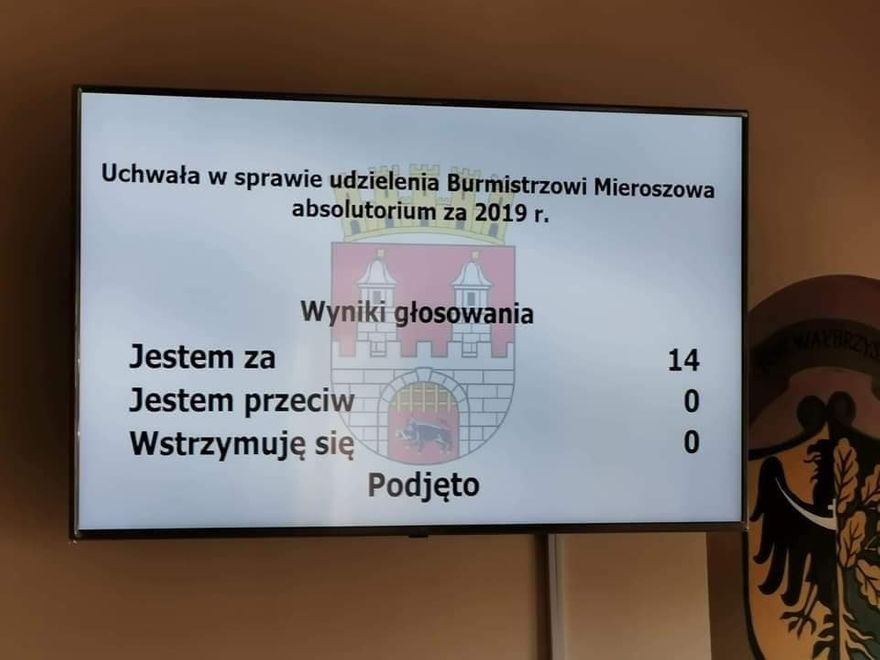 REGION, Mieroszów: Absolutorium dla burmistrza Mieroszowa